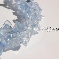 10gr Lt Sapphire Glas-chips
