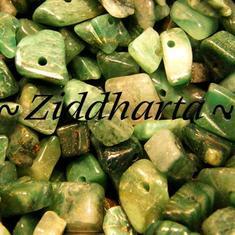 10gr Mörkt Skogsgröna: Afrikanska Jade chips
