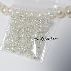 5gram Miyuki Seed Beads 15/0 - Silver SL - ca 1250 pärlor