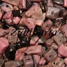 10gr Härliga Rosa/Svarta: Rodonite chips