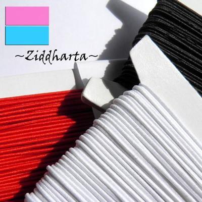 1m Elastisk Smycketråd textil: Rund gummitråd 1mm