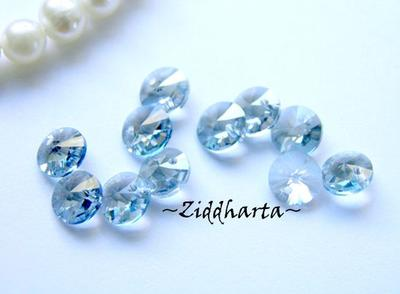 4st Swarovski 6mm Rivoli - Crystal Blue Shade