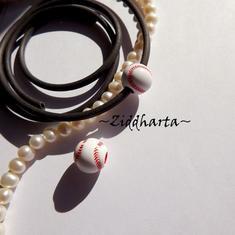 1st SPORT-pärla med stort hål: Baseball 11mm