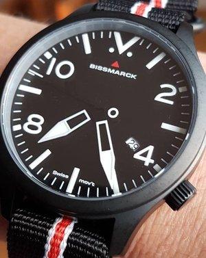 "Model ""QA"", analogue quartz watch, Swiss Ronda PowerTech 515, 1 jewel"