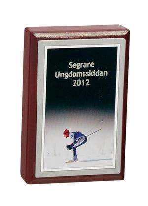 Plakett 3584 Skidor