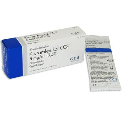 Kloramfenikol Trimb 5 mg/ml 3 x 10 x 1 ST Ögondroppar, lösning i endosbehållare- RESTNOTERAD