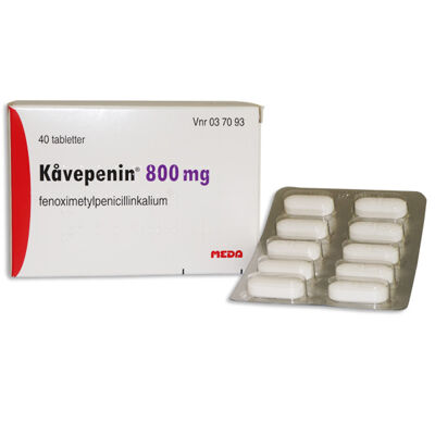 Kåvepenin 800 mg 40 ST Filmdragerad tablett