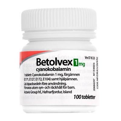 Betolvex 1 mg 100 ST Filmdragerad tablett