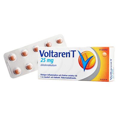 Voltaren T 25 mg 20 ST Dragerad tablett