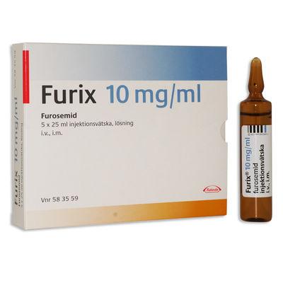 Furix 10 mg/ml 5 x 25 ML Injektionsvätska, lösning