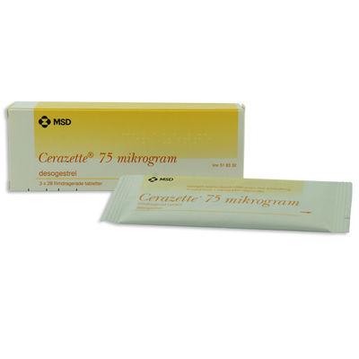 Cerazette 75 mikrog 3 x 28 ST Filmdragerad tablett