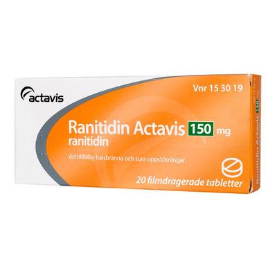 Ranitidin Actavis 150 mg 20 ST Filmdragerad tablett