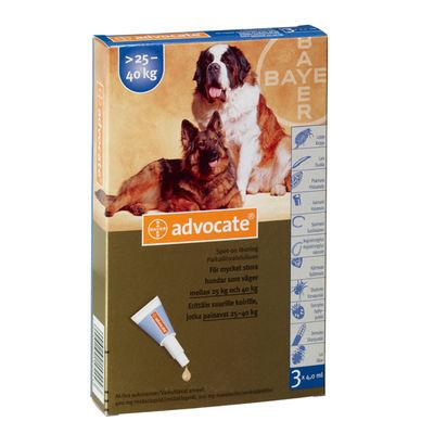 Advocate för mycket stora hundar 400 mg/100 mg 3 x 4 ML Spot-on, lösning