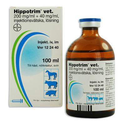 Hippotrim vet. 200 mg/ml + 40 mg/ml 100 ML Injektionsvätska, lösning - RESTNOTERAD