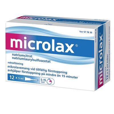 Microlax 12 x 5 ML Rektallösning