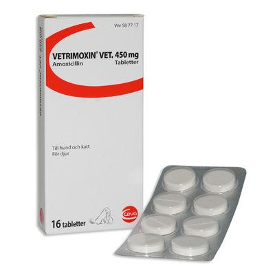 Vetrimoxin vet. 450 mg 16 TABL Tablett