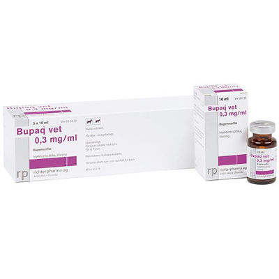 Bupaq Multidose vet 0,3 mg/ml 5 x 10 ML Injektionsvätska, lösning