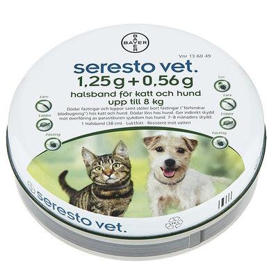 Seresto vet. för katt och hund upp till 8 kg 1,25 g + 0,56 g 1 ST Halsband
