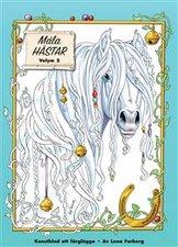 Måla magiska hästar : konstblad att färglägga