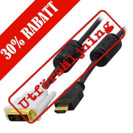 DELTACO HDMI Kabel, ha - DVI-D Single Link ha, 15 meter