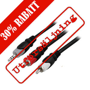 3,5mm RCA Stereokabel, 2 meter