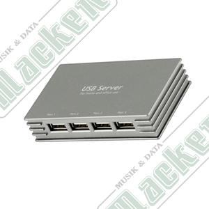 USB 2.0 Nätverksserver. 4-port (anslut USB hårddisk/skrivare till nätverket)