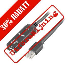 DELTACO USB 2.0 förlängningskabel