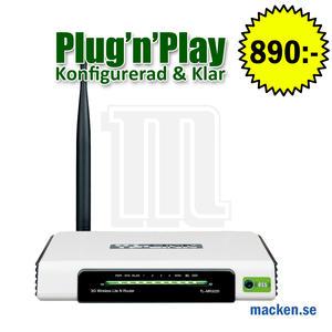 3G-router, trådlös 150Mbit, okonfigurerad eller konfigurerad & klar