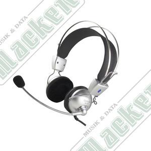 DELTACO, headset med mikrofon