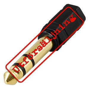 DELTACO multimediaadapter 3,5mm - 6,3mm