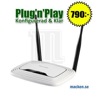 300Mbit trådlös router, Okonfigurerad eller konfigurerad & klar