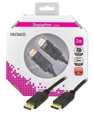 DELTACO DisplayPort monitorkabel