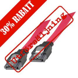 SATA/SAS-kabel, lås-clips, rak-rak, 1m