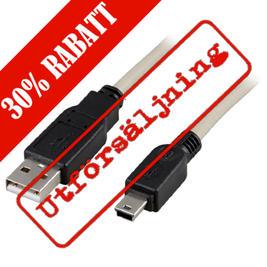 DELTACO USB 2.0 kabel, 1 meter