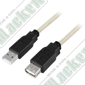 Deltaco USB Förlängningssladd,  3 meter