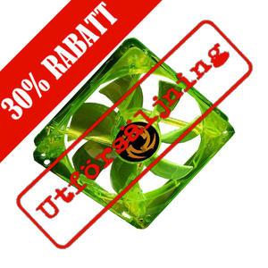Revoltec 80mm Dark Green LED-fläkt