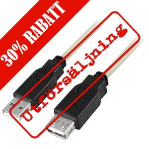Deltaco USB förlängningssladd, 2 meter