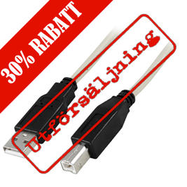 Deltaco USB kabel, 2 meter