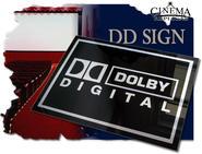Dolby Digital Plexi skylt