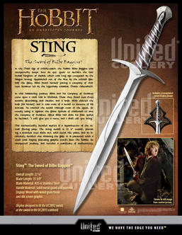 The Hobbit: STING, Sword of Bilbo UC