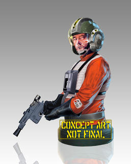 Star Wars: Wedge Antilles Mini Bust