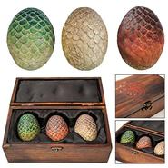 Dragon Egg Prop Replica Set in Wooden Box