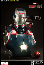 Iron Man 3: Iron Patriot Life-Size Bust
