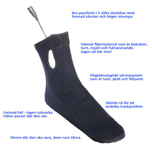 Heated Sock liners with 7.4V 5,2A kit