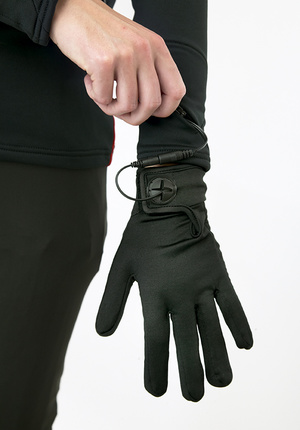 Heated glove liners with 7.4V 7,8A kit