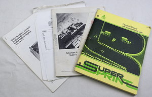 Super sprint Atari manualpaket