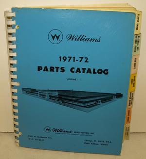 Parts Catalog Williams 71-72