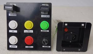 Panel och strömkontakt