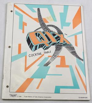 Qix cocktail manual