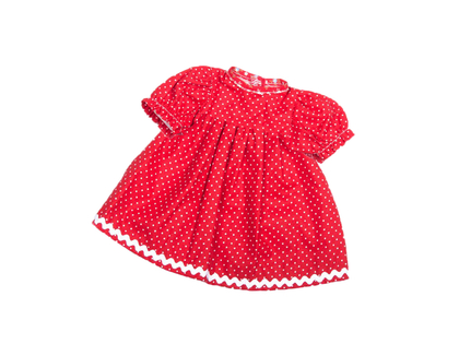 Dockklänning 'Bäbis' röd (30 cm)
